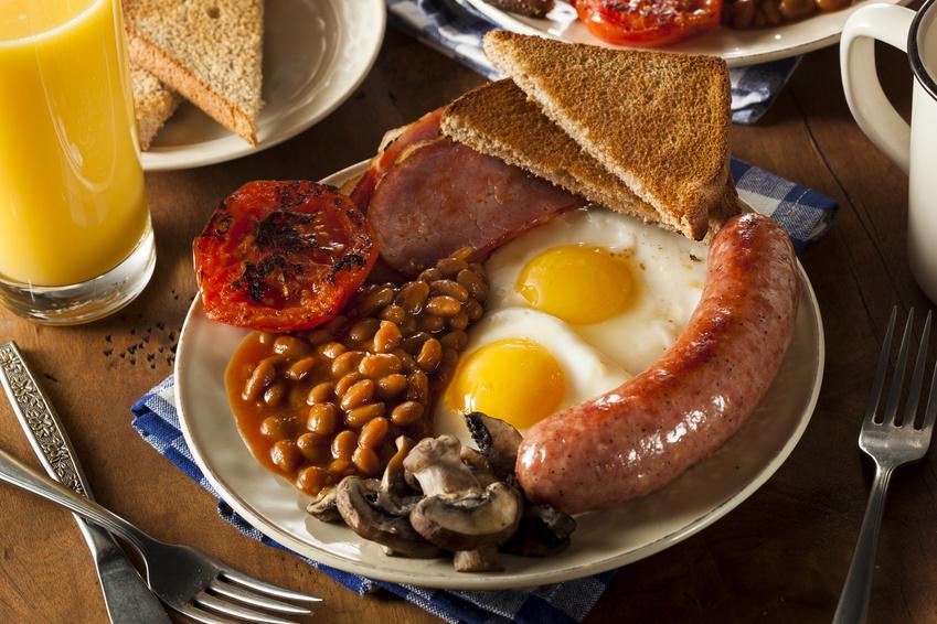 English breakfast at a B&B