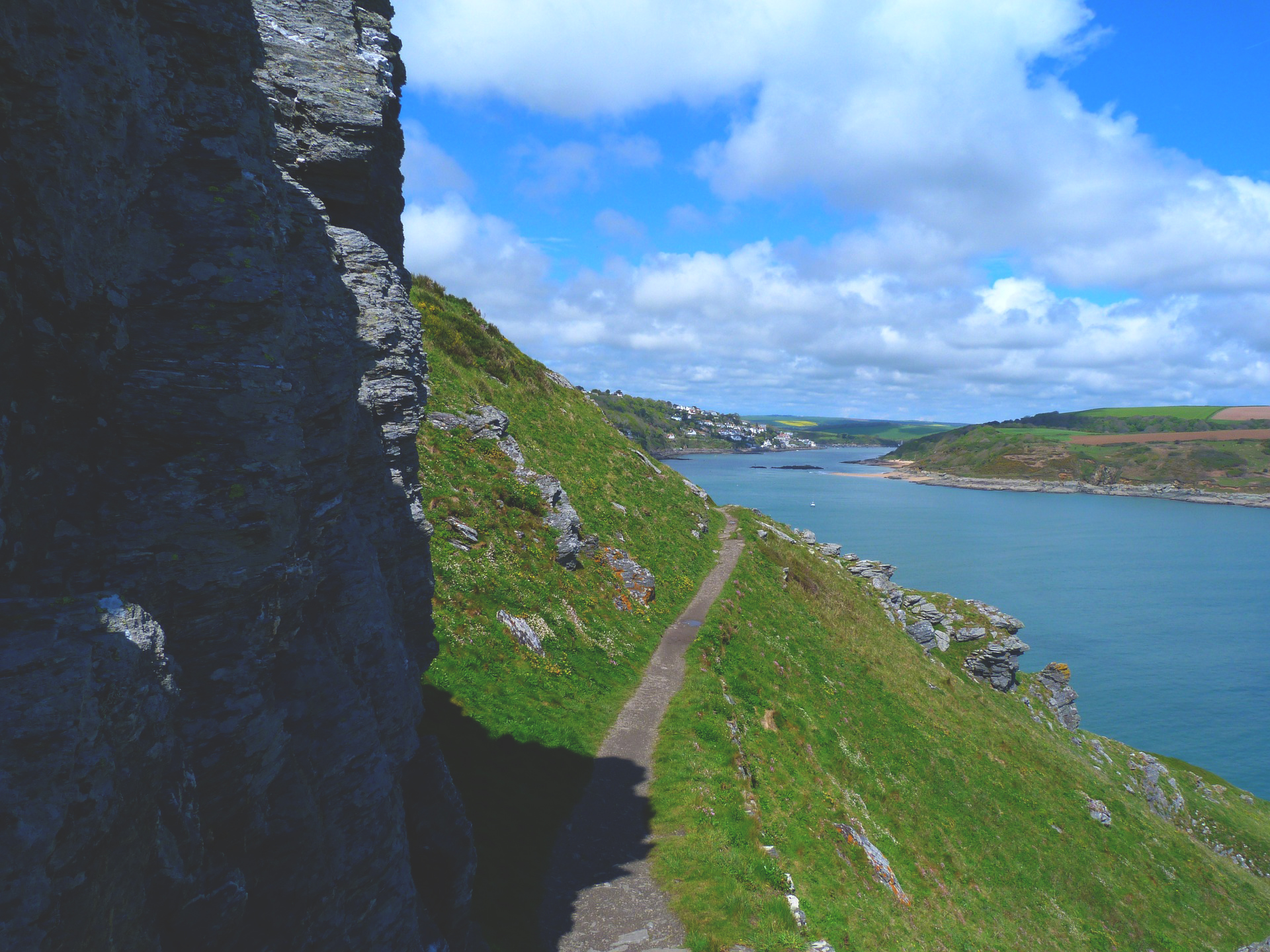 British coastal path walking and guest house holidays